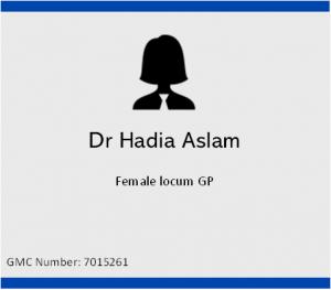 Dr Hadia Aslam