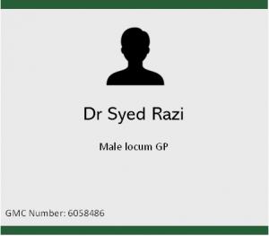 Dr Syed Razi